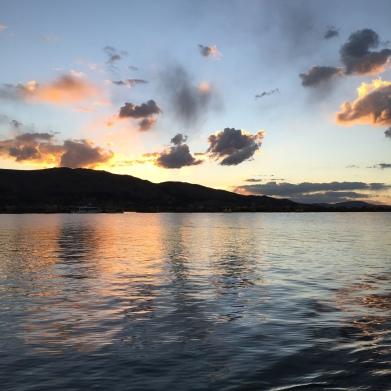 Lake at sunset