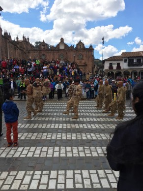 Military Mother's Day parade in the Plaza